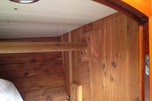 red cedar closet interior, custom yacht finsh