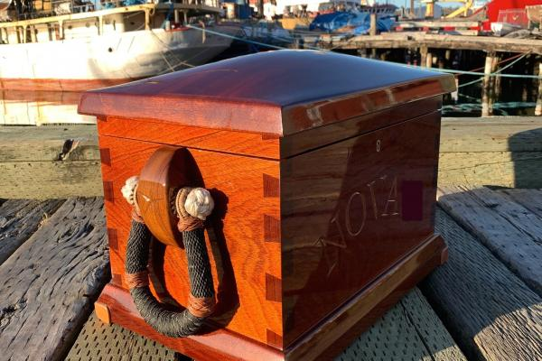 sea chest mahogany handcrafted bespoke woodwork