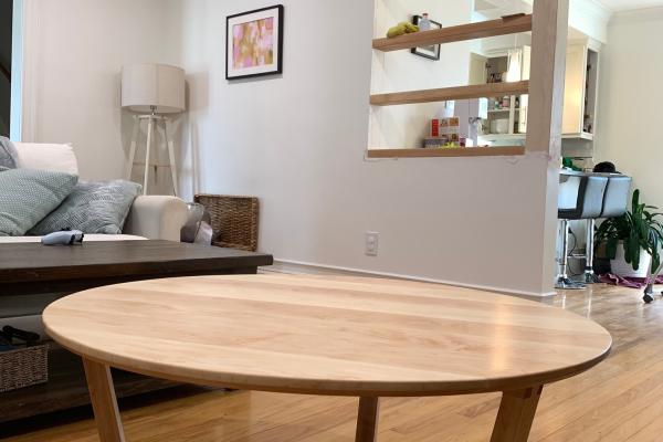 Fine Woodworking Handcrafted Maple Custom Coffee Table Modern dovetail joints bespoke